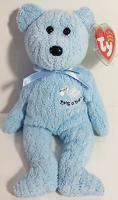 "TY Beanie Babies ""BABY BOY (It's A Boy)"" Stork Teddy Bear - MWMTs! GREAT GIFT!"