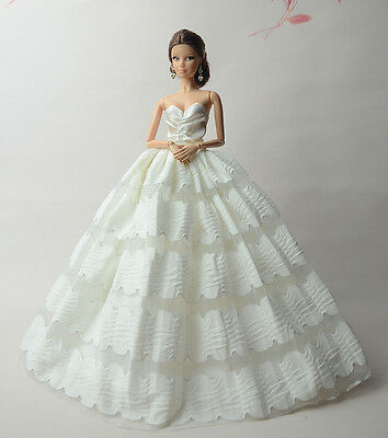 Fashion Royalty Princess Dress/Clothes/Gown For Barbie Doll S506U