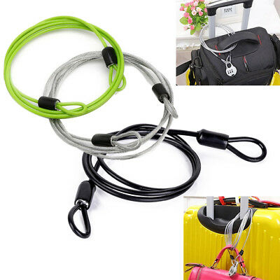 100cm x 6mm Cycling Sport Security Loop Cable Lock Bicycle Bikes Scooter U-Lock