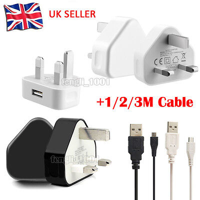 Mains Charger Adapter Micro USB Data Cable For SAMSUNG HTC Amazon Kindel Fire