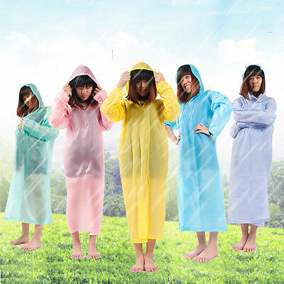 2x Disposable Outdoor Camping Travel Hiking Emergency Rain Coat Raincoat Poncho