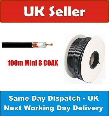 RG8 Mini 8 / RG8 X - 100m drum low loss Coax amateur radio/CB use