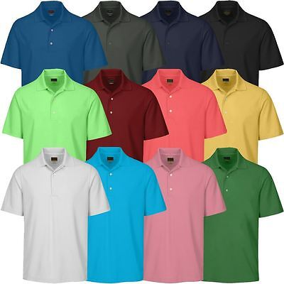 Greg Norman 2017 Performance Play-Dry LB Micro Core Pique Mens Golf Polo Shirt