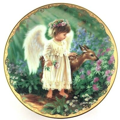 Bradford Exchange Collector Plate An Angels Love By Donna Gelsinger Garden Bless