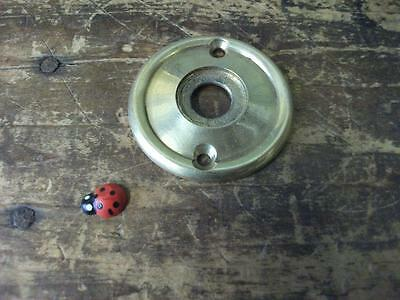 replacement solid brass backing plate (50mm dia)for door knobs (NEW)