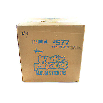 1986 Topps Wacky Packages Sticker Case 12 Boxes