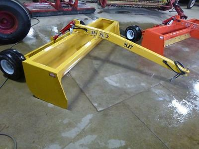Mape 8 Foot Pull Type Hydraulic Box Blade For Compact Tractors Never Used