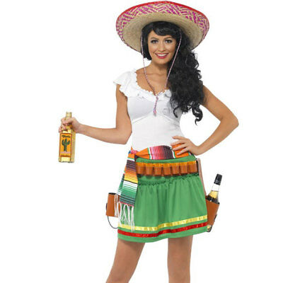 Mexican Tequila Shooter Girl Cowgirl Womens Fancy Dress Costume Outfit 29132  sc 1 st  PicClick UK & MEXICAN TEQUILA SHOOTER Girl Cowgirl Womens Fancy Dress Costume ...