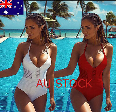Womens Bandage Swimwear One Piece Bikini Swimsuit Bra Push Up Beachwear Bathing