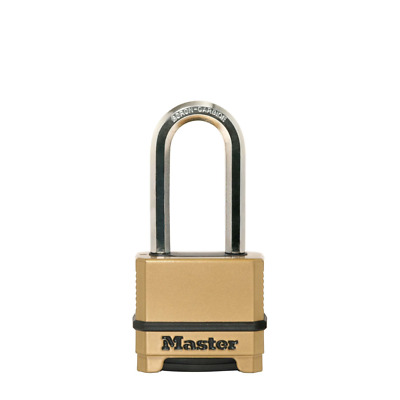 M175EURDLH Master Lock Zahlenschloss EXCELL Messing-Fin. 50mm Bügel 51mm D 9mm