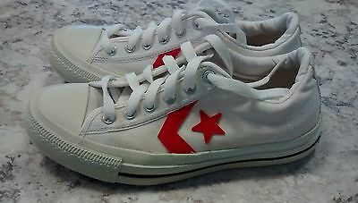 Unisex Converse All-Star Shoes, White low Sneakers, Youth Size 4 women's 6