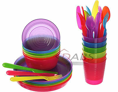 IKEA Kalas Childrens Plastic Party Set of Cutlery Cups Plates Bowls Cups - Baby