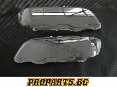 Bmw E53 X5 99-03 Set Headlight Headlamp Lamp Lens Cover Covers Lenses Pair New