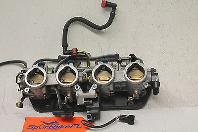 2006-2007 Kawasaki Ninja Zx10R Zx1000 Main Fuel Injectors Throttle Bodies Body