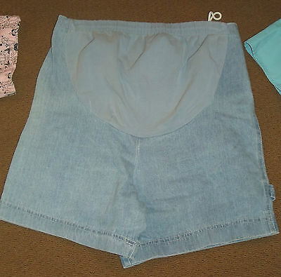 Motherhood Maternity Size Small S Denim Jean Shorts EUC