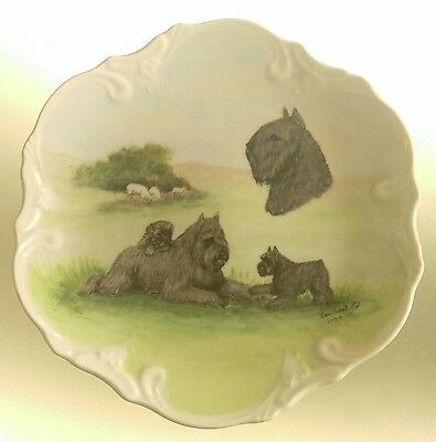VERY RARE Barnhart Studios Bouvier des Flandres Limited Edition Plate #8 of 100