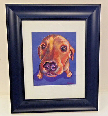 Love Me Dachshund Limited Numbered Print Picture Artist Signed Certificate 2009