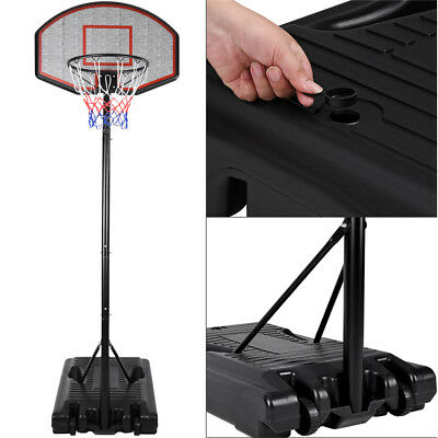 Basketball Hoop Stand 205-305cm Adjustable Free Standing Portable Movable Wheels