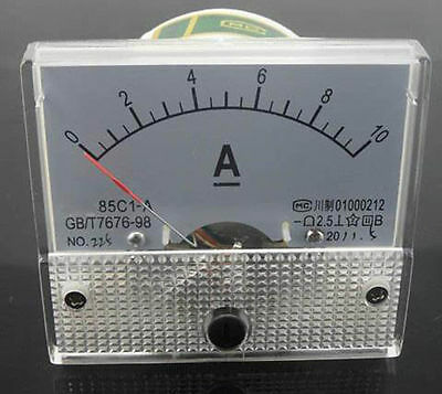 New DC 10A Ammeter 85C1 Mechanical Analog Panel Meter current measure DC 0-10A