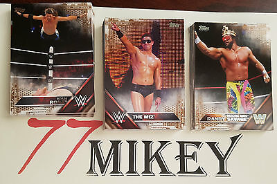 2016 Wwe Topps Trading Cards Bronze / Copper Pick 1 From The List For $1
