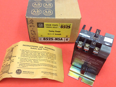 Allen-Bradley - Cat. #852S-NSA - Solid State Time Relay - 0.1-5 Seconds - NEW