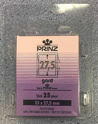 ⭐️27.5mm PRINZGARD Stamp Mount  -Black Mount ~(23mmx27.5mm) +FREE UK DELIVERY!⭐️