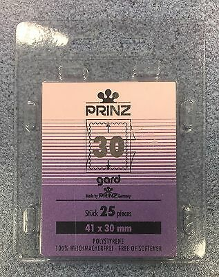 x2 ⭐️30mm PRINZ GARD Stamp Mount  ~Black Mount ~(41mmx30mm) +FREE UK DELIVERY!⭐️