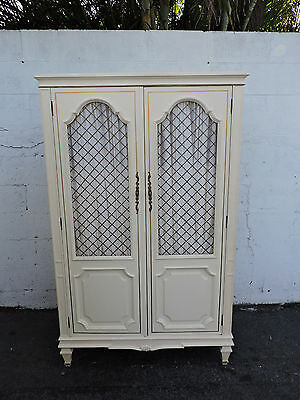 French Painted Armoire Wardrobe Cabinet by Century 8109A