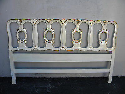 French Painted with Gold Highlight King Size Headboard 3366
