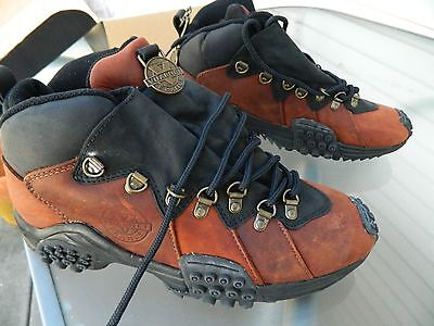 VUARNET of France Brown Leather Hiking Shoes / US Men size: 9 1/2 / Deadstock