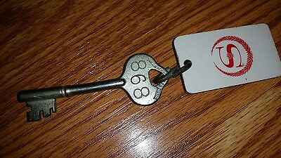 Hotel Skeleton Key and Tag - Sheraton Hotel Room 868