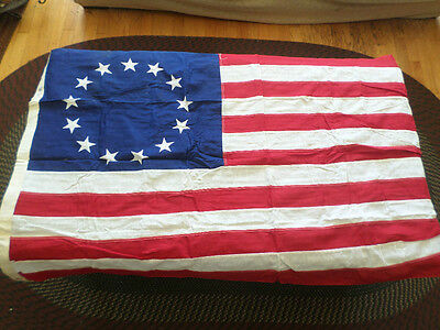 Vintage Betsy Ross 13 STAR FLAG BY Valley Forge 3 X 5 FROM SPRING CITY PA