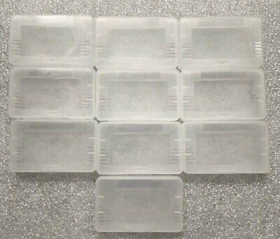 10 GBA Cases Clear Plastic Cartridge Nintendo Game Boy Advance games dust covers