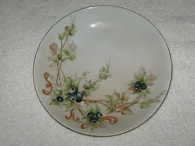 Antique/Vintage Hand Painted China Plate - Limoge France - Haviland - Berries #2