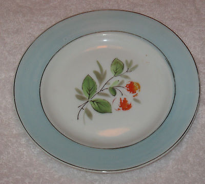 "Antique/Vintage Decorative China Plate, Blue & Green, 6"" Diameter,  #2"