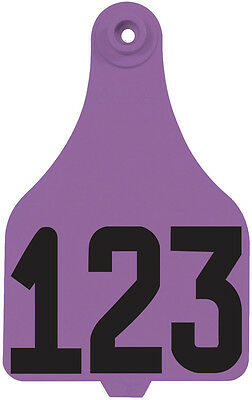 126 - 150* Purple DuFlex Numbered Extra Large Cattle ID Ear Tags