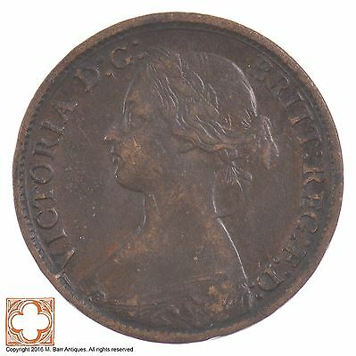 1865 Great Britain Farthing Queen Victoria *5903