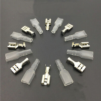 100pcs/lot 5.2mm the plug spring Crimping Terminal Female Spade Connector + Case