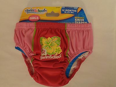 NWT Swim School Reusable Diaper Pink  M 12 Mo 18-22 lbs