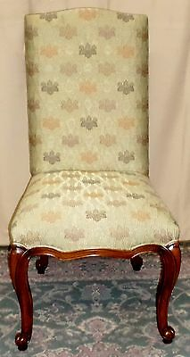 HENREDON DINING SIDE CHAIR Upholstered Antique French Style Louis XV #9027-11