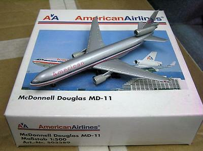 New Herpa Wings 503389 American Airlines Mcdonnell Douglas Md-11 Nib 1:500 Scale