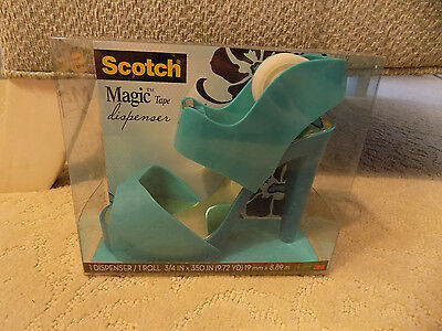 Scotch Dispenser Magic Tape Shoe Blue Sandal Cute Funny Desk Office Supplies  4s