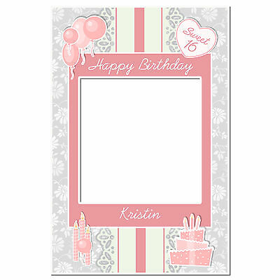 Minnie Pink And Gold Selfie Frame Social Media Frame Photo Booth