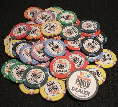 300 x WORLD CIRCUIT OF POKER Ceramic Poker Chips WCOP WSOP