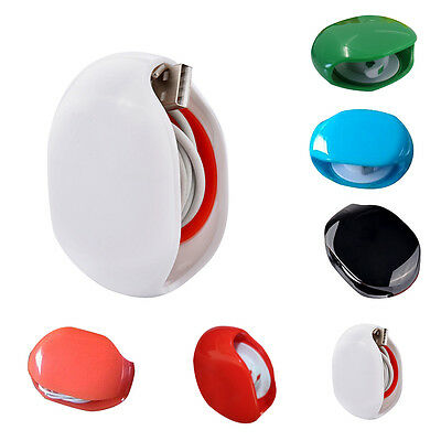 Auto Cable Cord Wire Organizer Bobbin Winder Wrap Holder For Earphone Headphones
