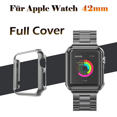 Black Apple Watch Series 1 Protective Case Cover with Built in Screen Protector