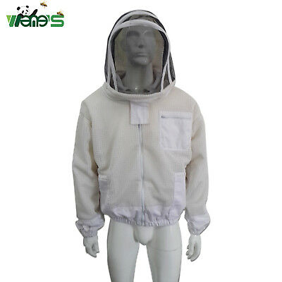 Three Layer Ventilated Jacket With Hooded Veil Beekeeping Vented Jacket Clothing