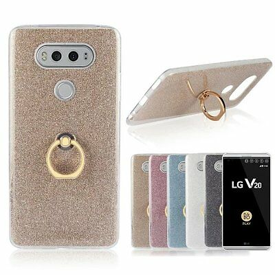 Bling Glitter Soft TPU Case for LG V20 Phone Protective Stand Mount Back Cover