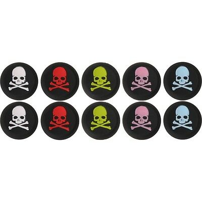 10PCS SKULL Thumbstick Cap Cover for PS4 XBOX Analog Controller Thumb Stick Grip