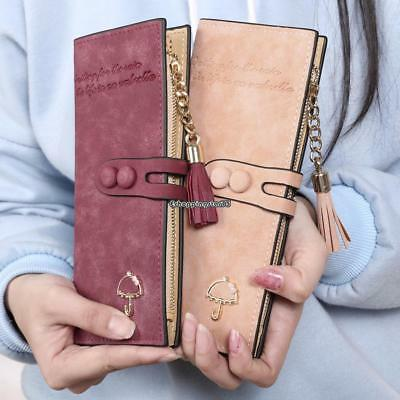 Women Leather Long Wallet Purse Handbag Clutch Bag Phone ID Card Holder Bag